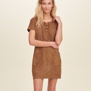 Hollister suede mini dress with pockets